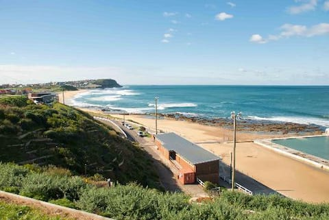 100 metres from Newcastle's iconic Merewether Beach.