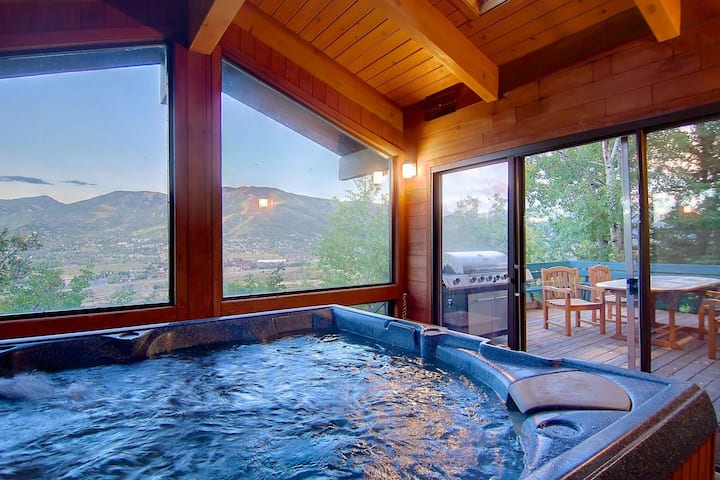 Dog Friendly Private Home - Best Steamboat Views! Hot Tub, Amazing Deck, Wood Fireplace, Garage