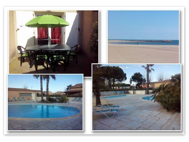 maisonnette avec piscine, proche plage - Vendres - Condominio