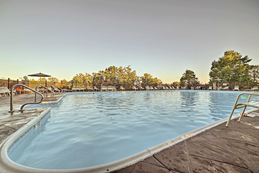 Enjoy access to the Holiday Hills Resort amenities, including this pool!
