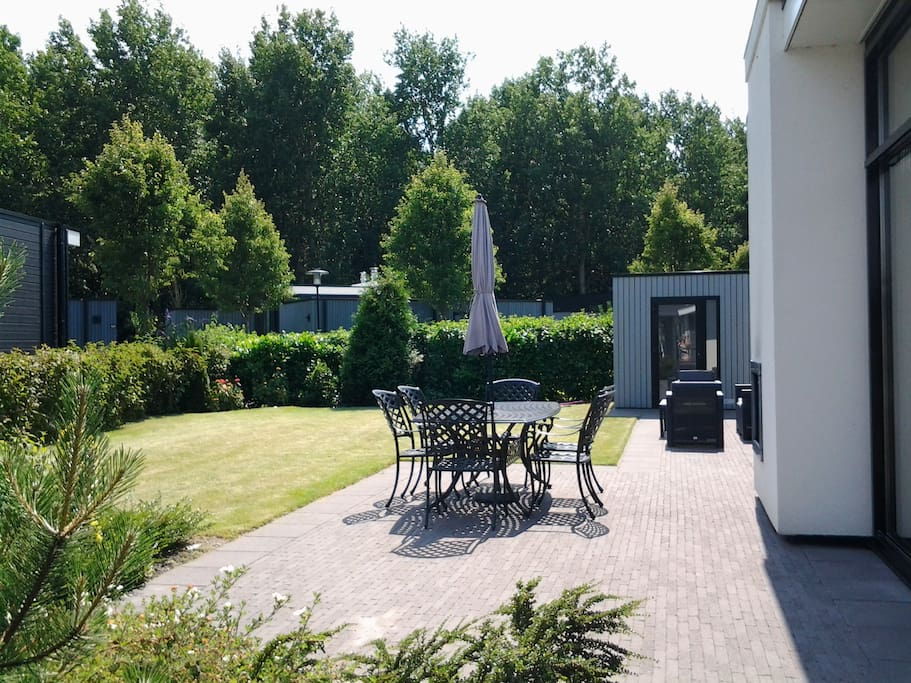 private garden with big terrace