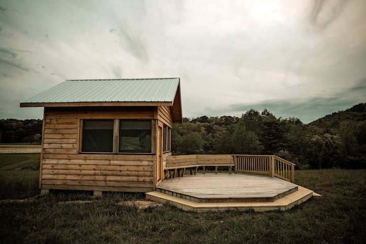 Mountain Meadow Glamping Cabin  Paint Rock Farm #7