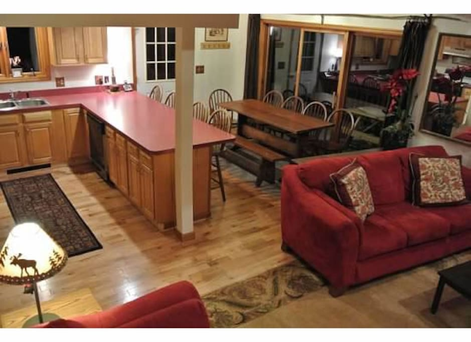 Open Kitchen to Living Room and dining area