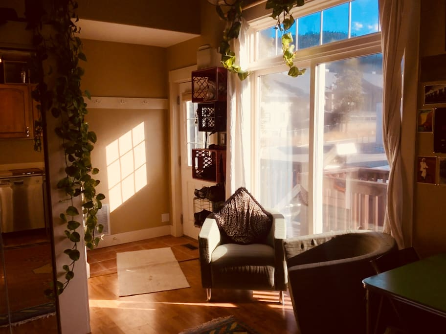 Sunny common room.