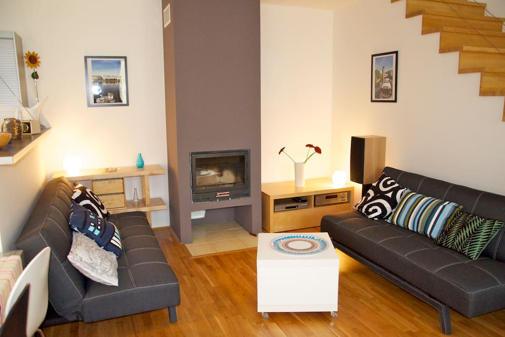 Fireplace available - two more places to sleep