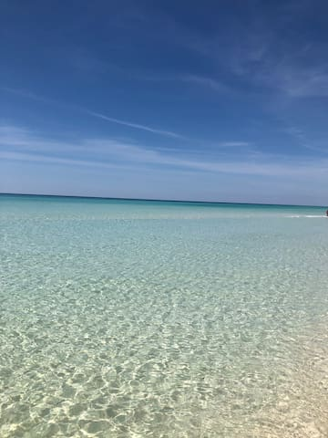 picture perfect emerald coast in front of the condo
