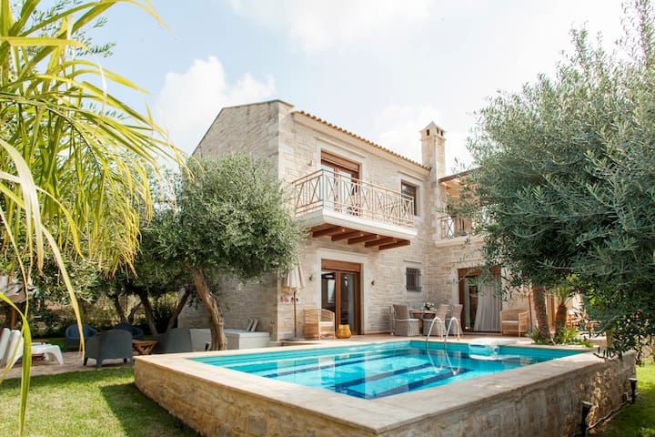 Luxurious stone villa with private pool.