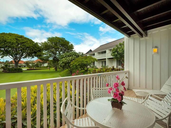 Kauai Style Suite w/Luxe Kitchen, Furnished Lanai, WiFi–Kiahuna Plantation #2050