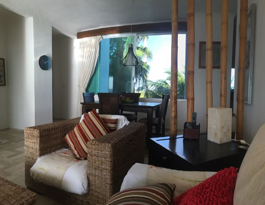 View form the sofa looking opposite side of the ocean