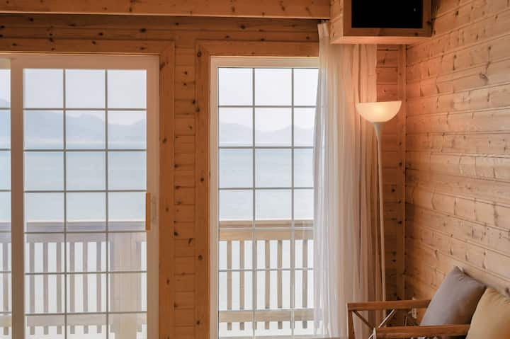 Cozy wooden room with attic B,  by seaside,mudflat
