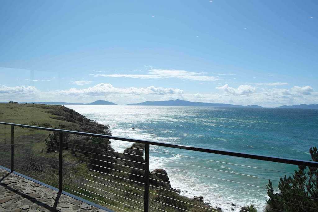 View of Great Oyster Bay and Freycinet Peninsular from the Balcony