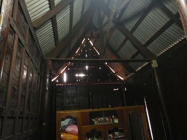 Under roof inside