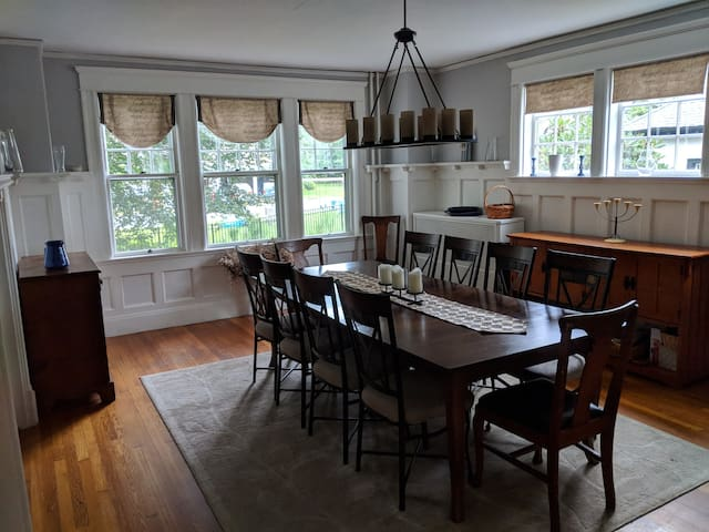 Formal dining easily seats 10+