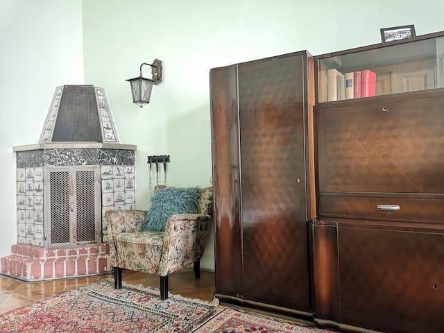 3 rooms,101m2,center. Breakfast,fireplace