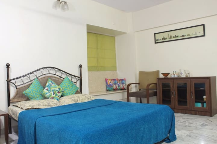 Spacious AC room near airport in good locality