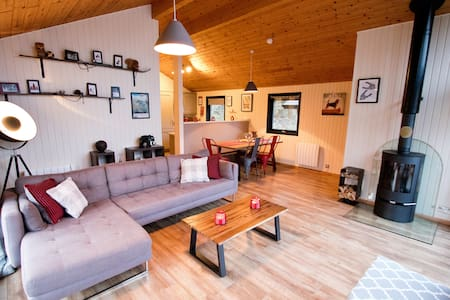 The Drey; Luxury Holiday Cabin With Hot Tub & Fire
