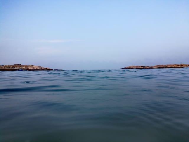 附近的大海