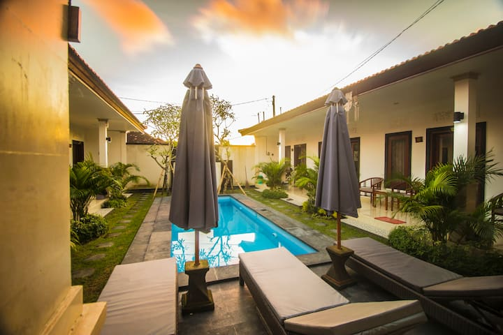 MODERN ROOM WITH STUNING POOL VIEW IN CANGGU