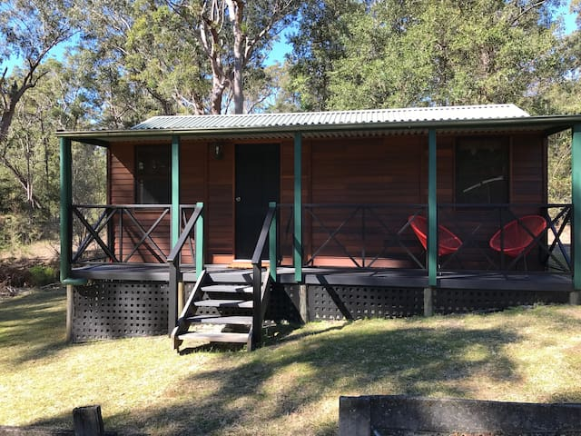 Pets welcome in our cute cabin at Wombat Ridge