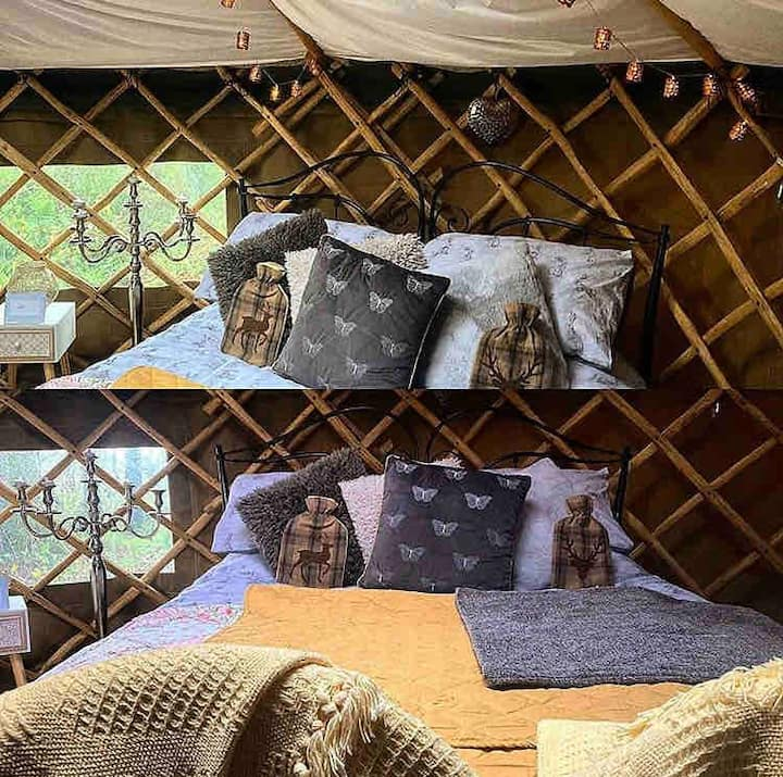 Yurt by the pond | logburner & private area