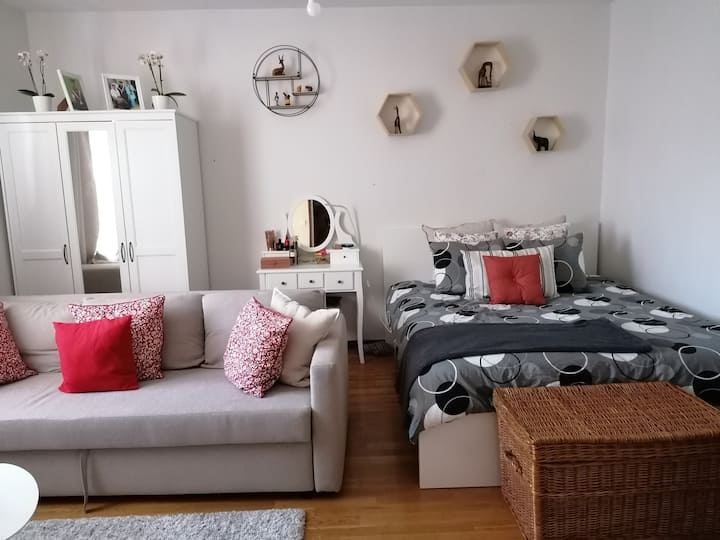 A stylish and warm apartment near river Aura