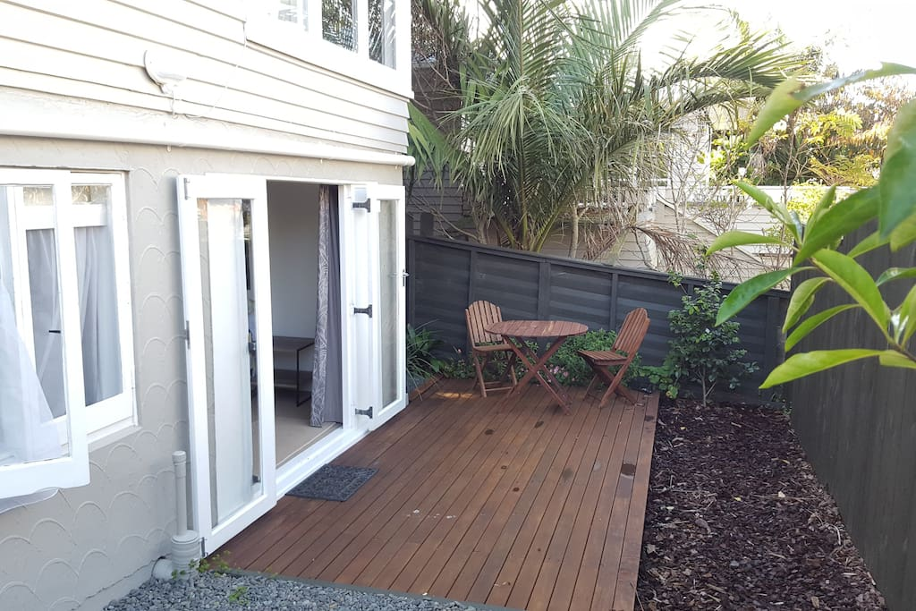 Outdoor deck and entrance