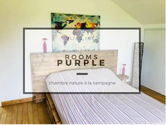 Grande chambre au calme à la campagne - PURPLE