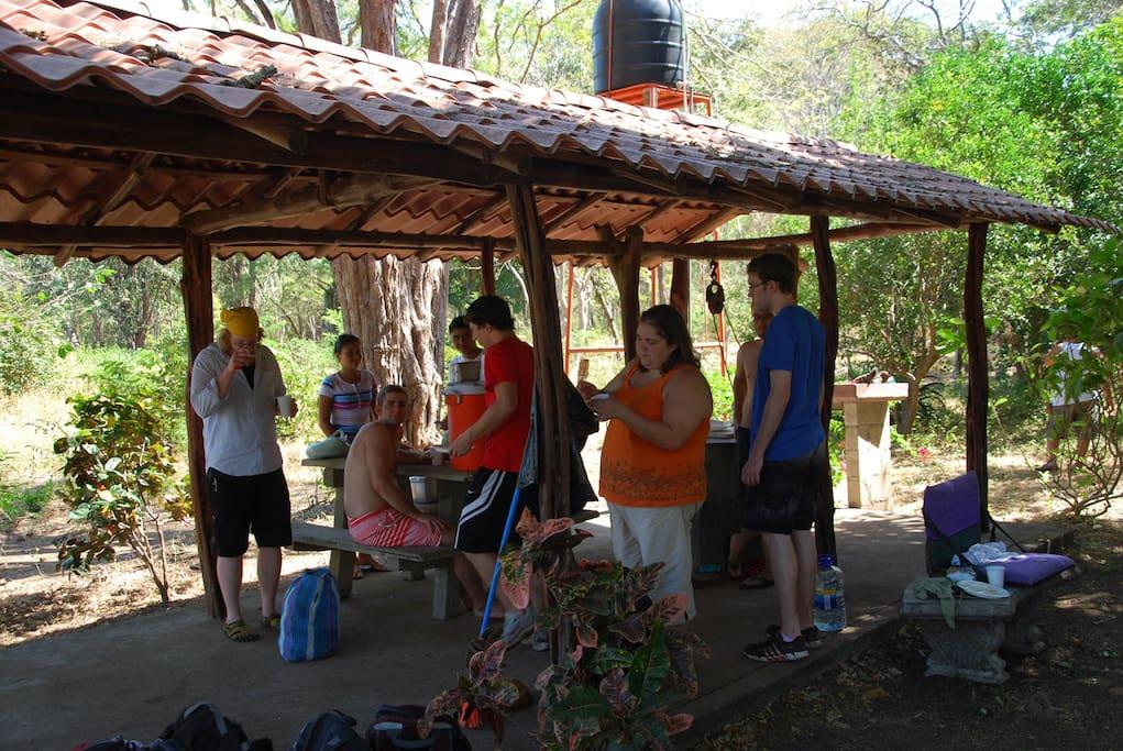 Ranchito at campground near Matapalo beach