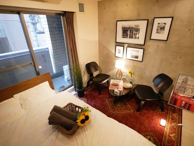 Designed & Brand New Apt /Free WiFi - Shibuya-ku - Apartamento
