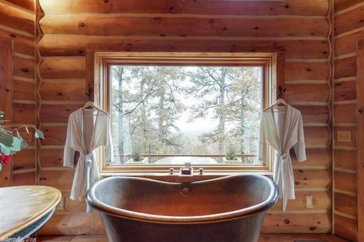 Copper Double Slipper Tub