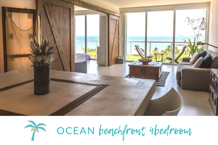 * OCEAN beachfront 4 BDR -Amazing Oceanview*