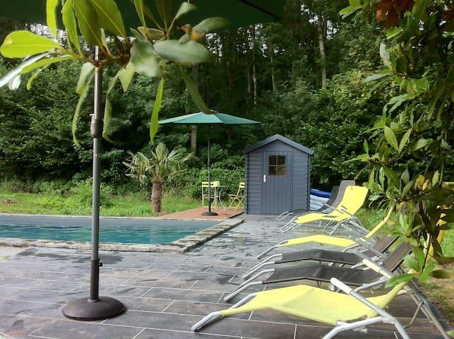 Grande maison de campagne - piscine