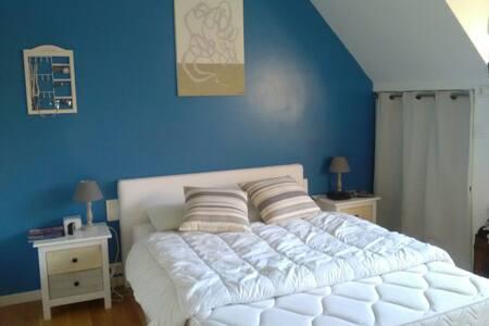 Chambre bleu lagon - Neuville-sur-Oise - Rumah