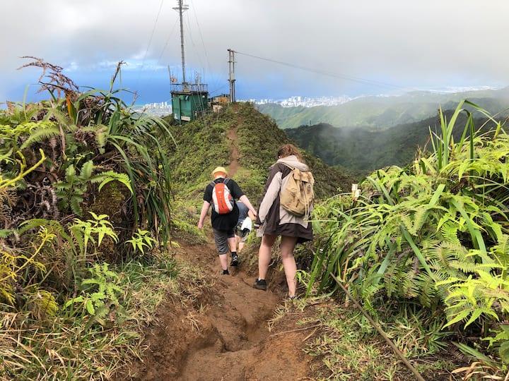 Navigating the ridge.