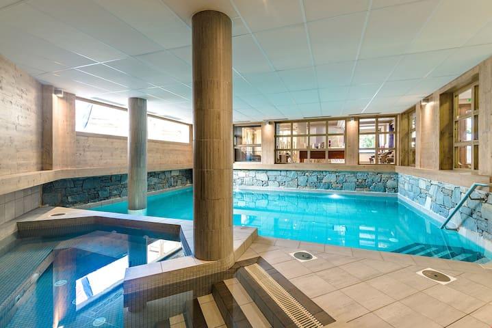 Appartement au calme et sympa, à 400m des remontées | Accès Piscine !
