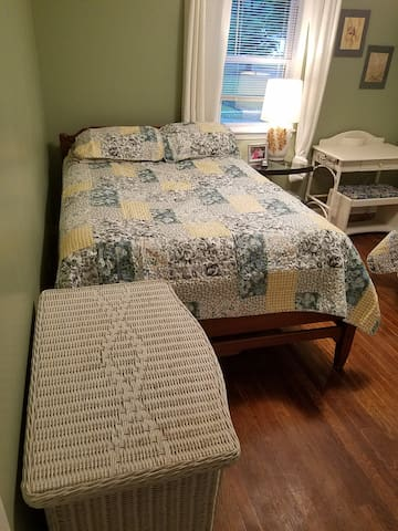Full size bed with pillow topper for exquisite comfort
