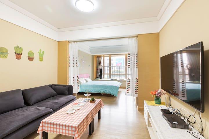 深圳静怡之家,近机场地铁口,可洗衣做饭,雅致居家。