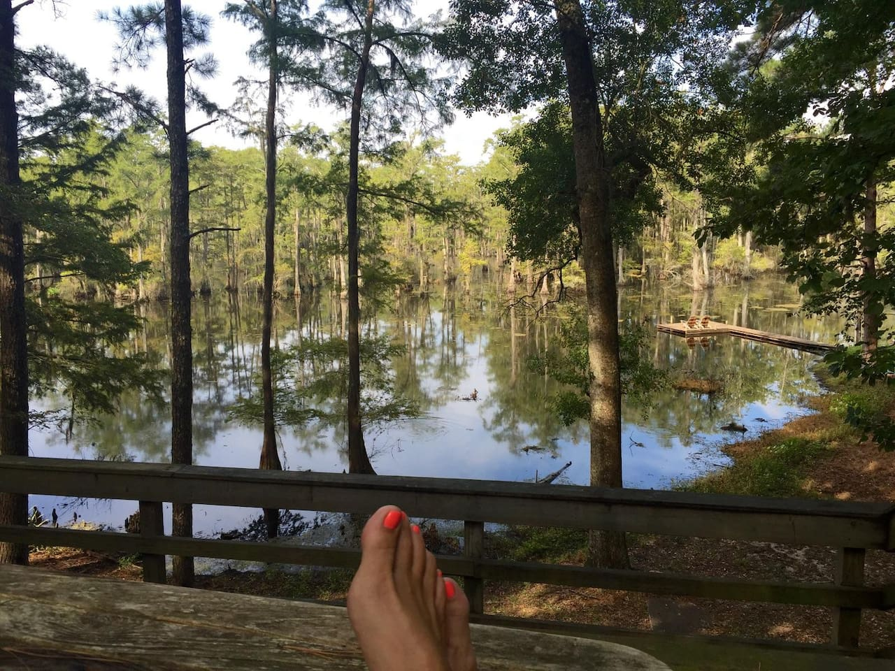 Pine trees and water galore one block away; park, jogging trail, water park, tennis, soccer field all in walking distance