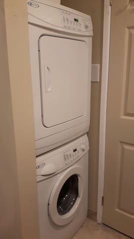 Full size washer/dryer in the condo