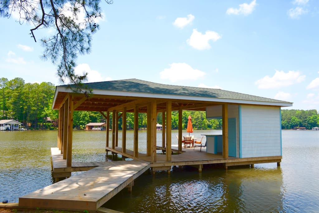 Boat Dock  with bar