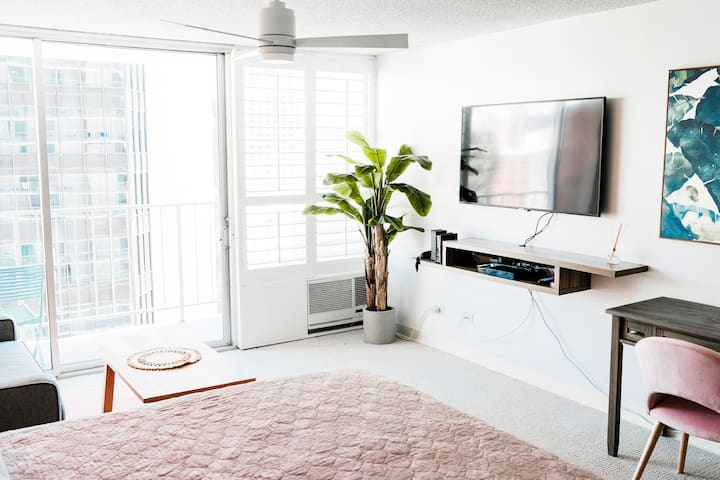 Newly Renovated Studio in Center of Waikiki