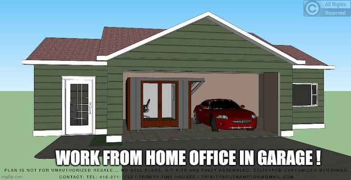 Home Office DIY kit fits in Your Garage plans $149