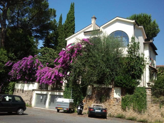 An external view of the villa