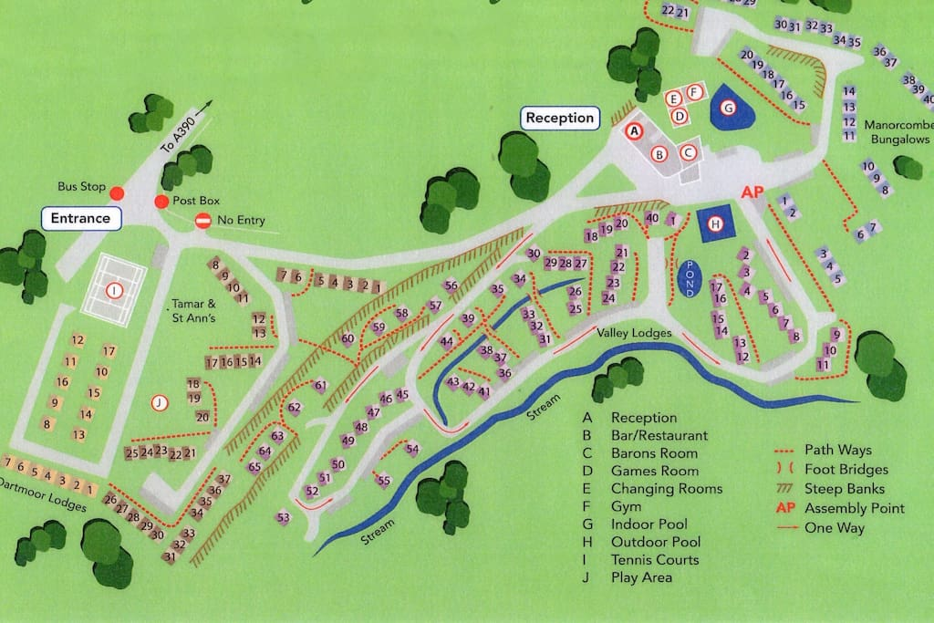 Map of holiday park. Property is 35 Tamar.