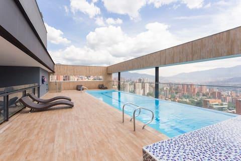 Luxury Apartment Poblado Medellin, best city view