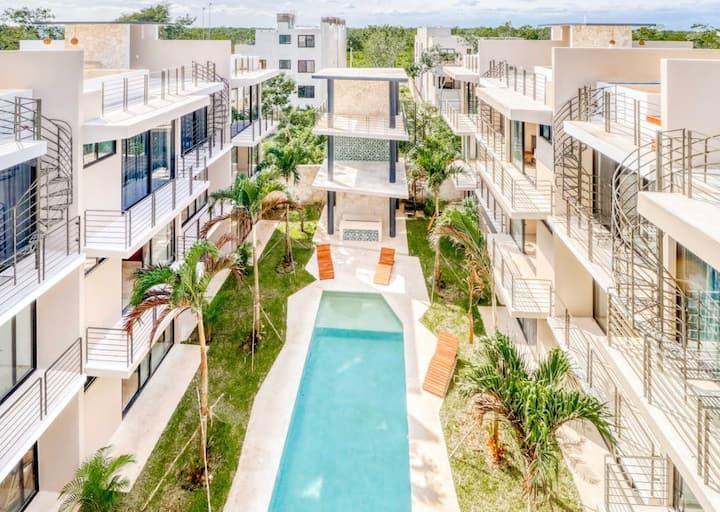Amena101 Modern Apartment close to beach & jungle