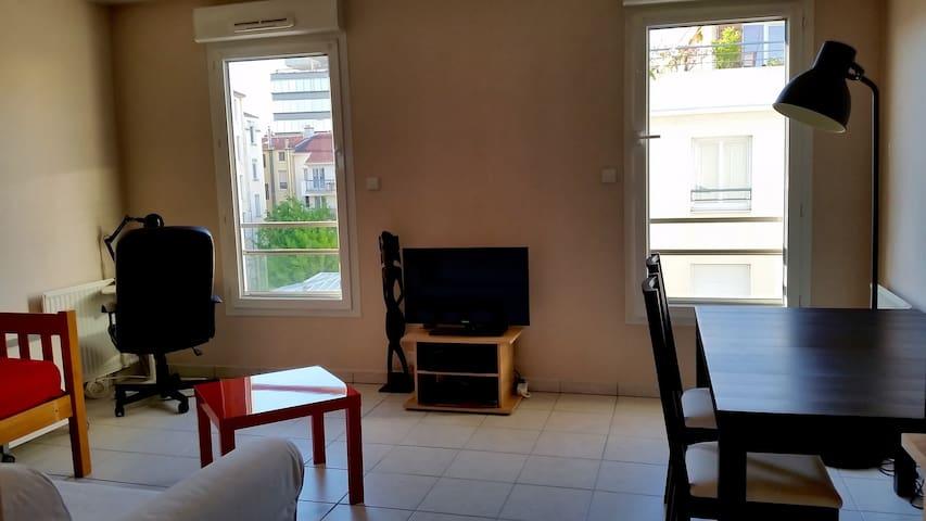 Studio proche gare Part-Dieu - Métro Garibaldi - Lyon - Apartamento