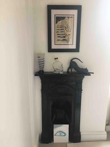 Original fireplace in room