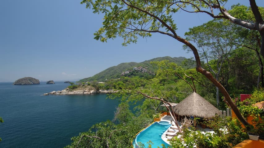 Infinity Pool and views of Los Arcos National Park