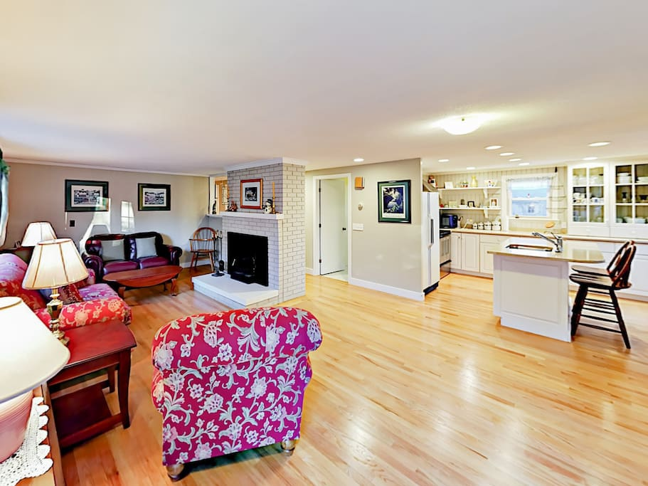 The open living and kitchen area provides a great flow for entertaining.